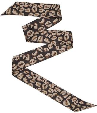 Fendi logo splash print wrappy scarf