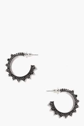boohoo Eastern Boho Hoop Earrings