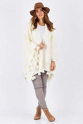 Brave & True NEW Brave & True Womens Ponchos Prairie Poncho Size OneSize Vanilla