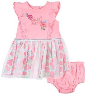 Nanette Baby Short Sleeve Tutu Dress - Baby Girls