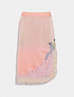 Coach Selena Lace Detail Skirt