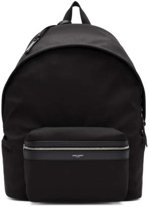 Saint Laurent Black Giant Canvas City Backpack