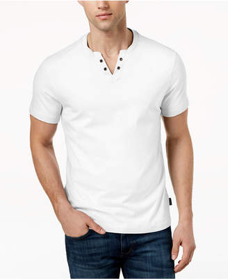 Kenneth Cole New York Men's Split-Neck T-Shirt