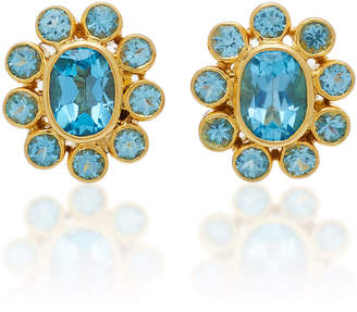 Amrapali 18K Gold Blue Topaz Earrings