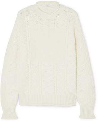 Givenchy Cable-knit Wool And Cashmere-blend Sweater - White