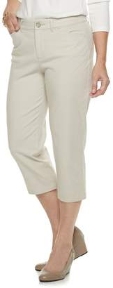 Croft & Barrow Petite Classic Stretch Midrise Chino Capris