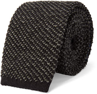 Ralph Lauren Mélange Knit Silk-Linen Tie