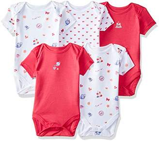 Mothercare Baby Girls 5 Pack Short Sleeve Tea Party Bodys Bodysuit,(Size: 74)