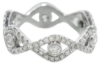 Sydney Evan Diamond Evil Eye Eternity Band Ring - White Gold