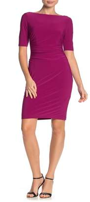 Vince Camuto Ruched Jersey Sheath Dress