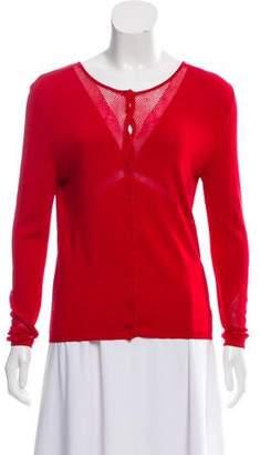 Blumarine Long Sleeve Knit Cardigan