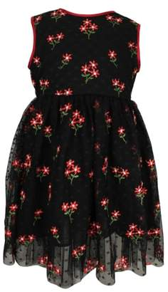 Popatu Embroidered Flower Dress