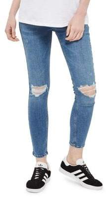 Topshop MATERNITY Rip Jamie Jeans 32-Inch Leg