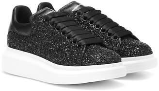 Alexander McQueen Glitter leather platform sneakers