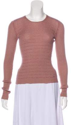 Chanel Cashmere Rib Knit Top