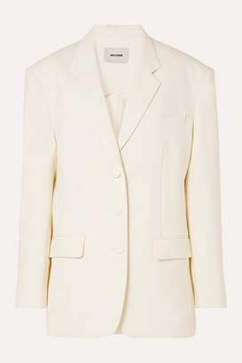 we11done Oversized Woven Blazer - Ivory