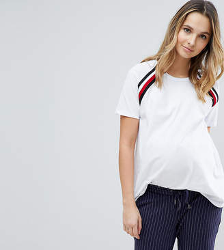 Asos Maternity - Nursing Asos Maternity Nursing T-Shirt With Tape Detail Zips