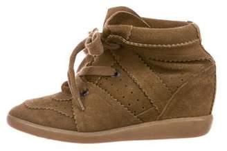 Isabel Marant Suede Wedge Sneakers
