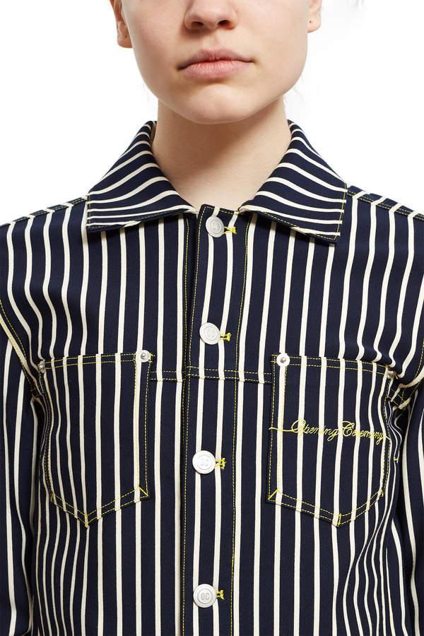 Stripe Denim Cropped Jacket