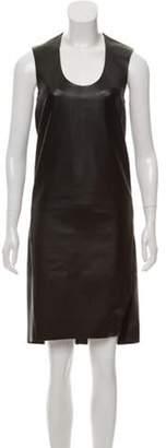 Acne Studios Leather Knee-Length Dress Black Leather Knee-Length Dress