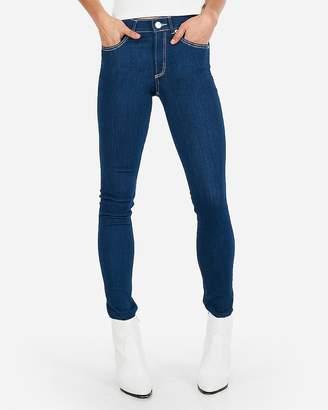 Express Mid Rise Contrast Stitch Jean Leggings