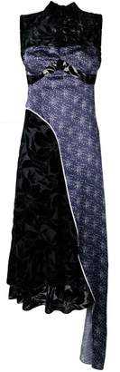 Marine Serre contrasting panel dress