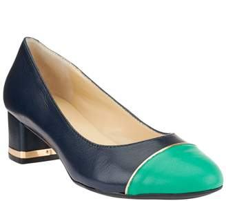 Isaac Mizrahi Live! Cap Toe Leather Pumps
