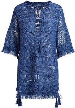 Polo Ralph Lauren Linen Tunic Sweater $398 thestylecure.com
