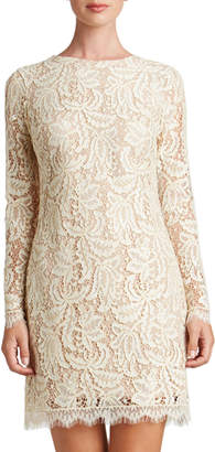 Dress the Population Cambria Lace Long-Sleeve Sheath Mini Dress