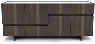 Huppe 72-inch Walnut Buffet with Glass Top