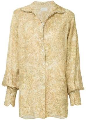 Lemaire zip front floral blouse