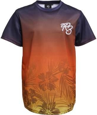 Ripstop Boys Tarragon Sublimation Print T-Shirt Navy/Orange