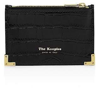 The Kooples Croc Patterned Leather Card Case