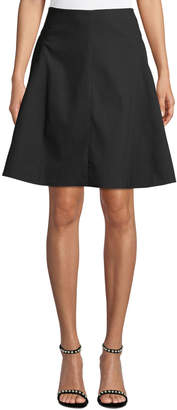 Leon Max Seamed Flared A-Line Skirt