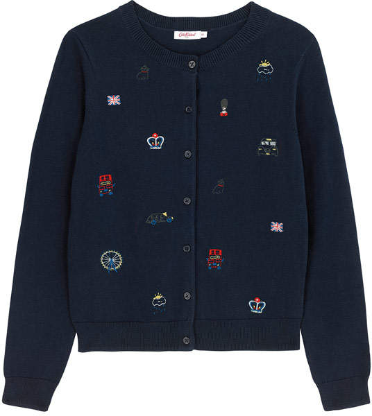 Embroidered London Cardigan