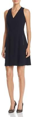 T Tahari Annalise Sleeveless V-Neck Dress
