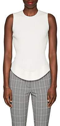 Esteban Cortazar Women's Cutout-Back Rib-Knit Top - Ecru