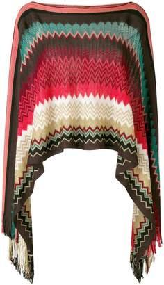 M Missoni zigzag pattern poncho