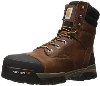 Carhartt Men's Ground Force 8-Inch Brown Waterproof Work Boot - Composite Toe - New for 2017 - CME8355