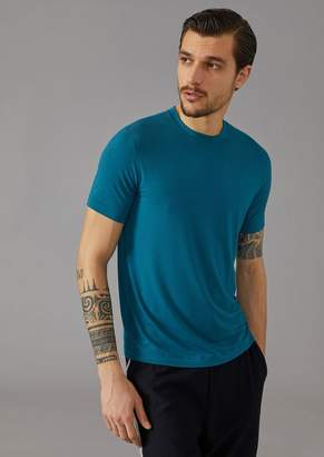 Giorgio Armani Stretch Viscose Jersey T-Shirt