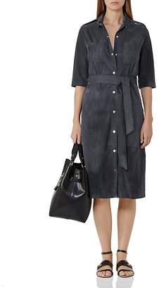REISS Chloe Suede Shirt Dress $745 thestylecure.com