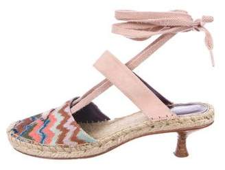 Missoni Mare Chevron Espadrille Sandals