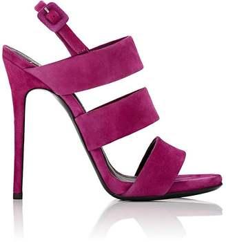 Giuseppe Zanotti GIUSEPPE ZANOTTI WOMEN'S ALIEN SUEDE SANDALS $695 thestylecure.com