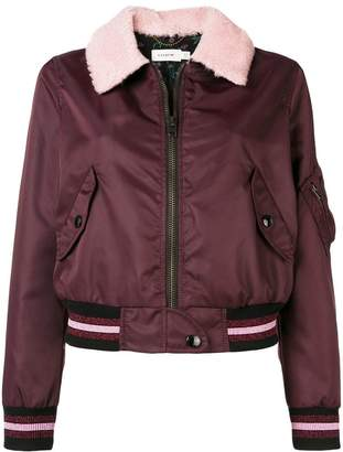 Coach front zipped bomber jacket