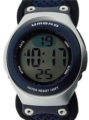 Umbro Boys Blue Digital Water Resistant EL Backlight Fabric Sports Watch U656