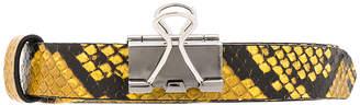 Vetements Thin Python Paper Clip Belt