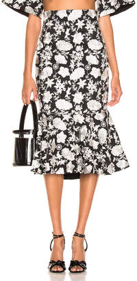 Alexis Reece Skirt in Ivory Floral Embroidery   FWRD