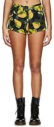 Marc Jacobs Women's Pear-Print Georgette Shorts - Grn. Pat.