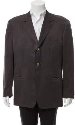 Gianni Versace Striped Three-Button Blazer