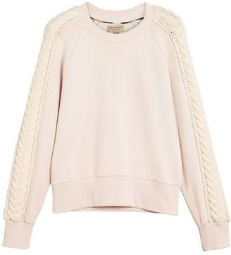 Burberry cable knit detail sweatshirt